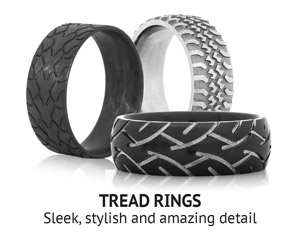 tread rings titanium buzz specialty custom rings