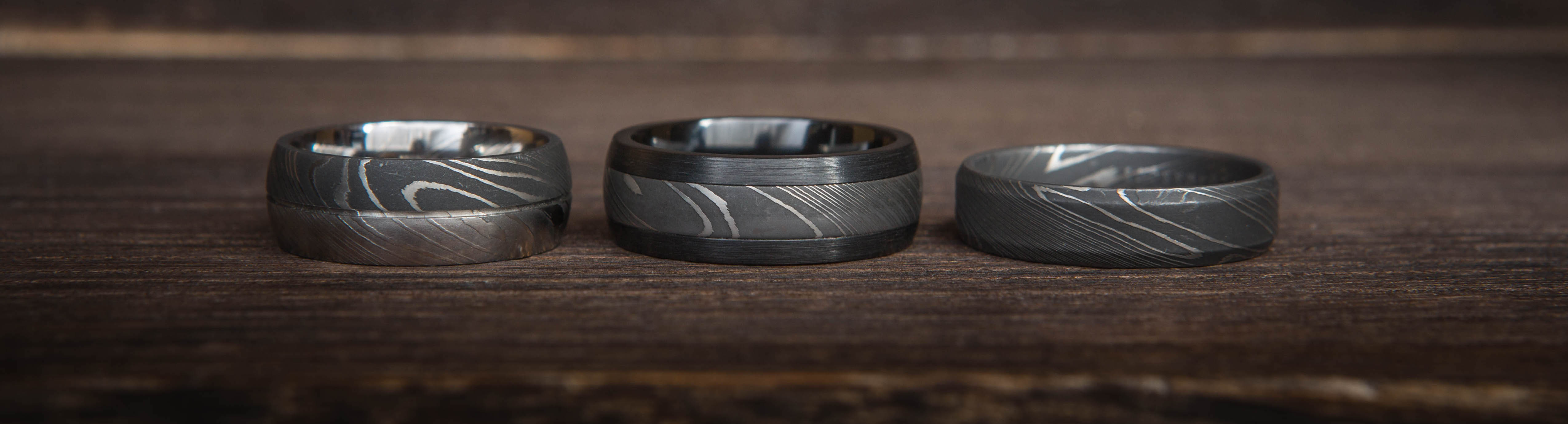 damascus steel rings damascus steel wedding bands titanium buzz